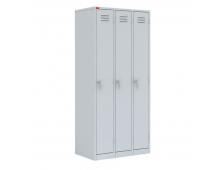 Шкафы металлические трехстворчатые \(трехсекционные)