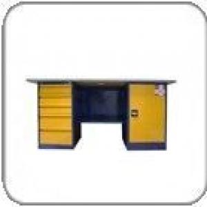 Металлический верстак двухтумбовый (с тумбой и драйвером) — Вп-4/1.6