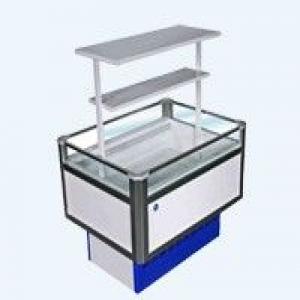 Витрина холодильная низкотемпературная островная Вхн-0,20 Купец (1,2о) (боковины Абс с надстроикой. )