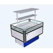 Витрина холодильная низкотемпературная островная Вхн-0,40 Купец (2,4о) (боковины Абс с надстроикой. )